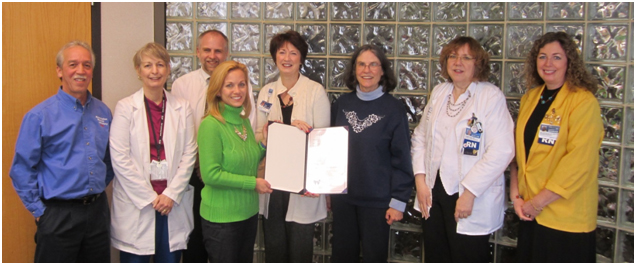 Greater Roanoke Valley Asthma and Air Quality Coalition members accept the proclamation from Salem City Council member Lisa Garst